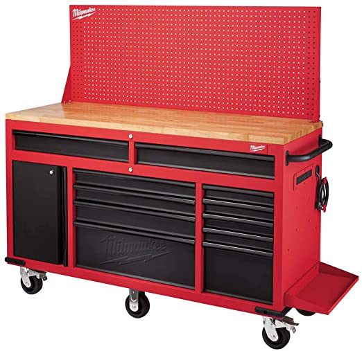 Milwaukee Workbench with Pegboard