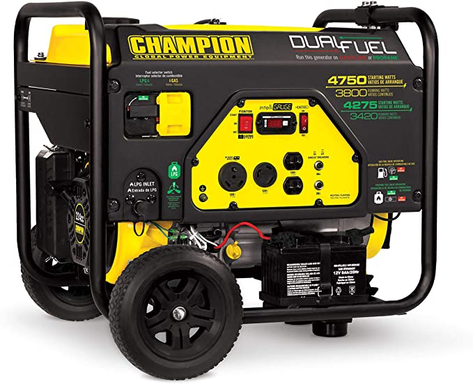 Champion Power Equipment 3800-watt Dual Fuel Portable Generator